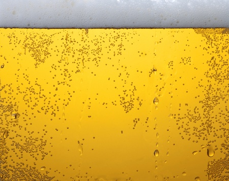 Light beer in glass Stock Photo