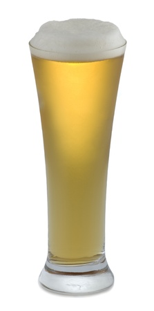 Cold beer in glass Imagens