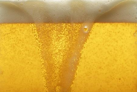 beer foam: Beer texture