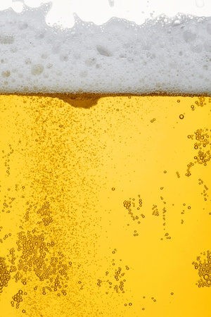 froth: Fresh beer dewy glass texture Stock Photo