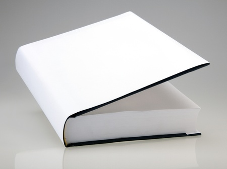 hardcover: Book with open page