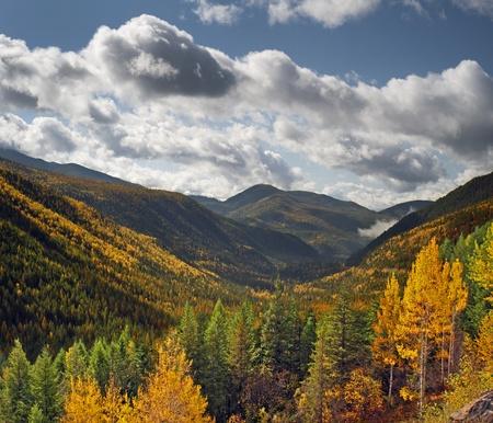 Mountains at Kootenay Pass in fall 版權商用圖片