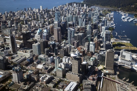 Vancouver, Aerial - downtown