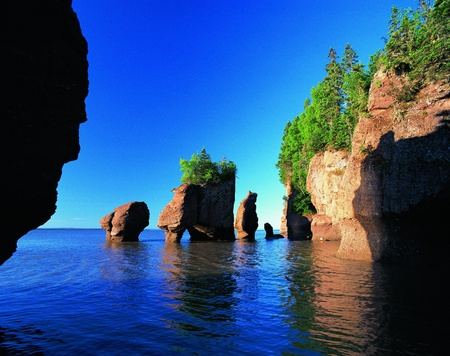 Bay of Fundy, New Brunswick, Canada Imagens