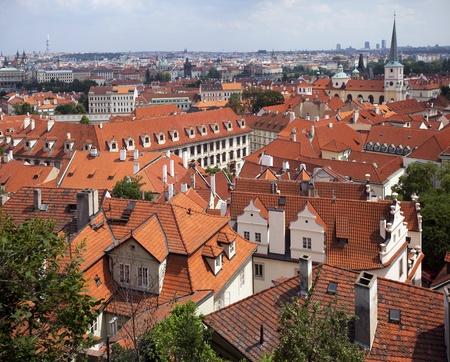 Prague, panoramic view with Small Quarter