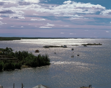 Great Slave Lake at Northwest Territories, Canada Stock Photo