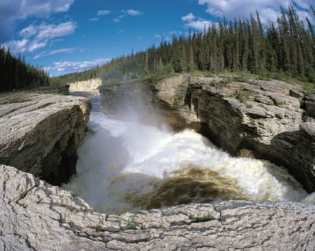 northwest: Falls on the Saamba River Stock Photo