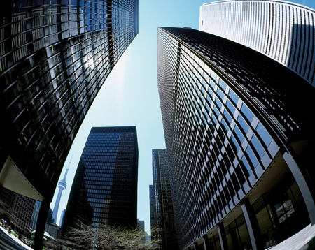 Toronto wolkenkrabbers in het Financial District Stockfoto