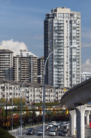 Apartment buildings and SkyTrain Line in Burnaby Stock Photo - 11259475