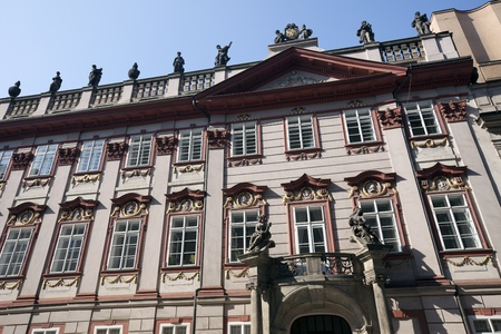 Neo-Renaissance building in Prague, Hybernska Street Editorial