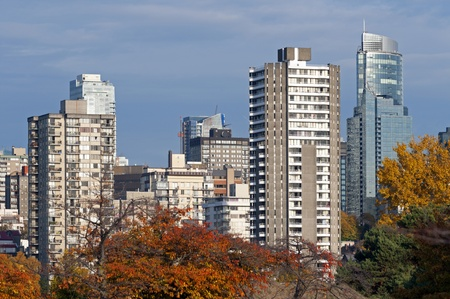 Residential buildings in Vancouver downtown