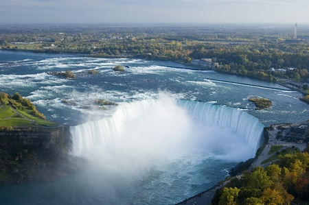 ナイアガラ川とナイアガラの滝