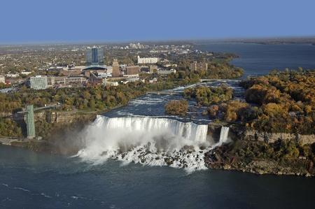 niagara falls city: Niagara River and American Falls