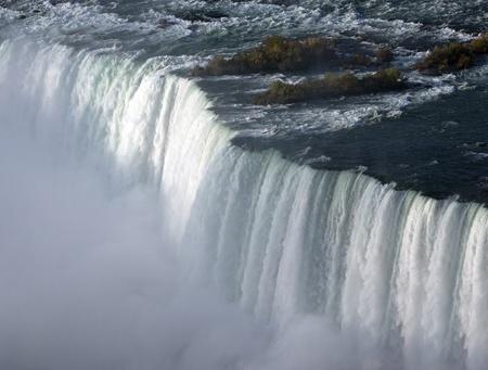 niagara falls city: Horseshoe Falls at the Niagara River in Canada Stock Photo