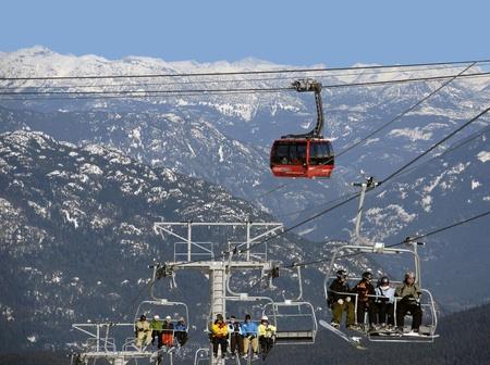 Coast Mountains at Whistler with Peak 2 Peak Gondola