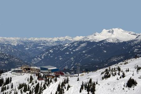 skying: Coast Mountains at Whistler with Peak 2 Peak Gondola station