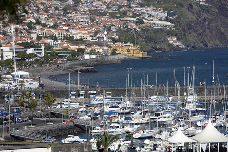 The city of Funchal at Madeira island, Portugal