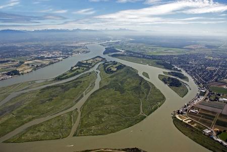 fraser river: Fraser River and its islands in the Fraser Valley