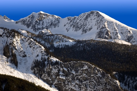 skying: Coast mountain and Mount Moe in winter