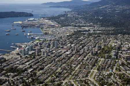 North and West Vancouver and Burrard Inlet Stock Photo