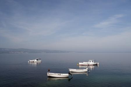 dalmatia: Beach with boats in Croatia