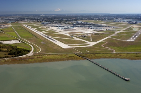 mt baker: Sea Island with Vancouver International Airport and Mt. Baker Editorial