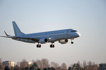 Les aéronefs atterrissant à Vancouver Banque d'images - 15751478