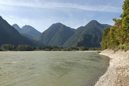 Fraser River in Coast Mountains