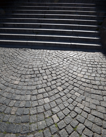 Stairs and pawing stones