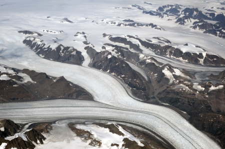 Greenland - aerial view Stock Photo