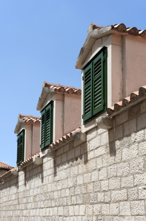 Windows on the roof in Italy Stock Photo - 15828803