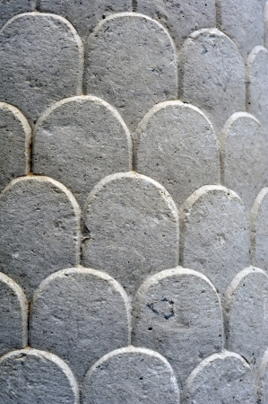 Stone decoration on the wall of church photo