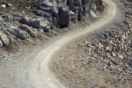 Gravel Road pour le fond Banque d'images - 16209579