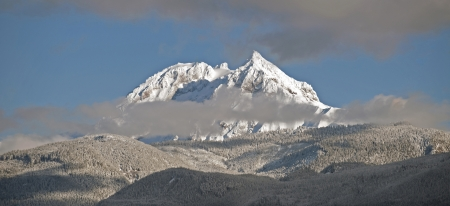 Mt  Garibaldi with Diamond Peak - panoramic view photo