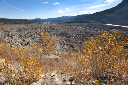 Destroyed town Frank by rock slide Stock Photo - 16209639