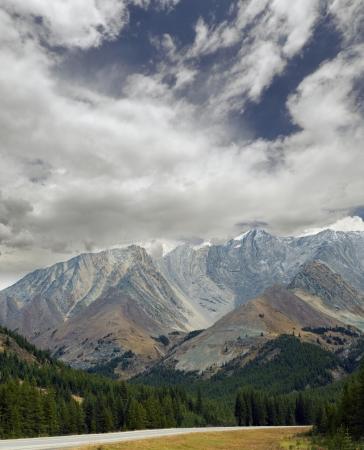 Rocky Mountains - Kananaskis Country with Mist Mountains Stock Photo - 16209635