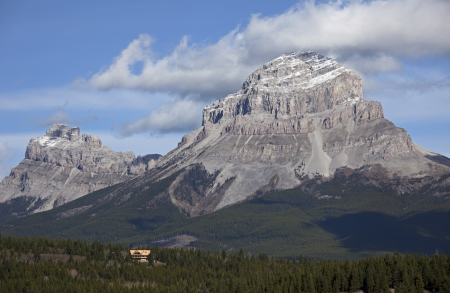 Seven Sisters Mountain and Crowsness Mountain, Alberta, Canada Stock Photo - 16209642