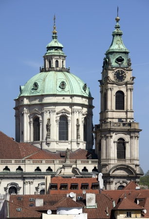 st nicholas cathedral: Prague - Panoramic with St  Nicholas cathedral and Lesser Town Editorial