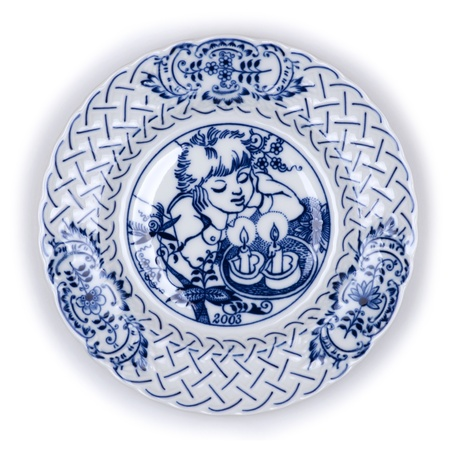 christmas motif: Plate dish decorated plate with Christmas motif
