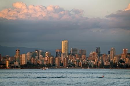 british columbia: Vancouver skyline at the dusk, sunset