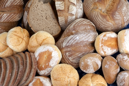 bakery products: Bread, buns - bakery products Stock Photo