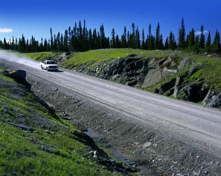 Autoroute Labrador - Nouvelle-Labrador Highway près de Goose Bay, Canada Banque d'images - 23343856