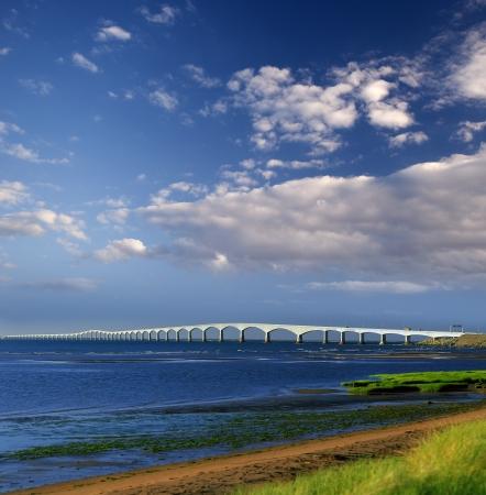 Pont de la Confédération - Île-du-Prince-Édouard, Canada Banque d'images - 23343857