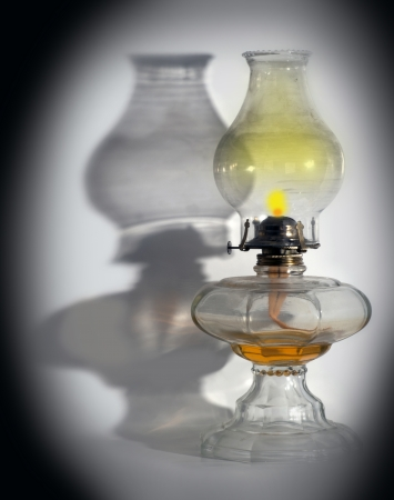 kerosene: Oil Lamp - antique petroleum light Stock Photo