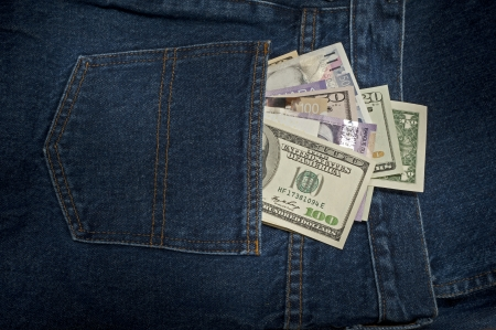 Money in the pants, jeans Imagens - 23037194