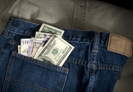 Money in the pants Stock fotó