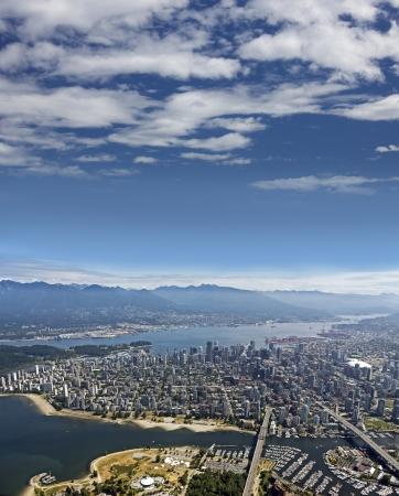 Vancouver - Kitsilano, Anglais Bay, Centre-ville, du West End, Burrard Inlet, West Vancouver, North Vancouver et de la côte Montagnes Banque d'images - 23483911