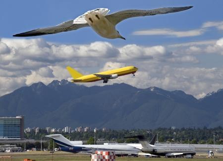 AÉROPORT INTERNATIONAL DE VANCOUVER - le 18 juin: Situé dans les montagnes de la côte sur la rive de l'océan Atlantique, YVR est partie importante de la chaîne des aéroports du Canada. Colombie-Britannique, Canada, le 18 Juin, 2009 Banque d'images - 23738985