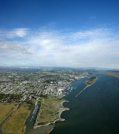 fraser river: Metro Vancouver - Richmond, Steweston and Garry Point Kite Field Stock Photo