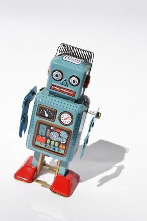 Vintage tin toy robot photo